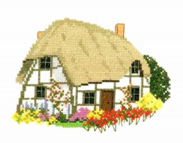 Cruck Cottage Cross Stitch Kit